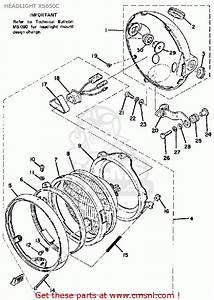 Yamaha Xs650 C 1974-1976 Headlight Xs650c