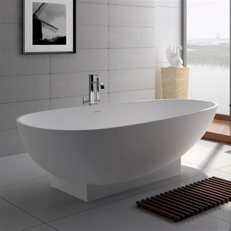 50 Inch Freestanding Bathtubs by Free Standing Solid Surface Resin Glossy Bathtub 71
