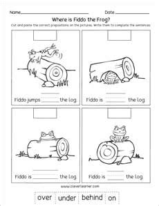 preposition worksheets free for nursery preposition printables for preschools and kindergartens