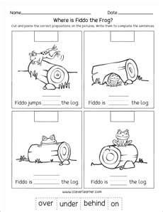 worksheet prepositions game printable  worksheet