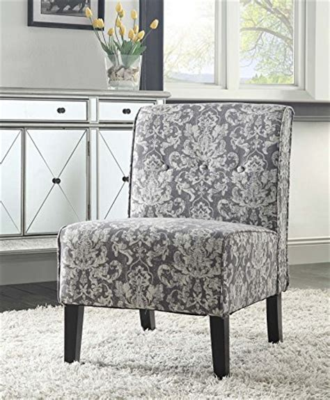 where to buy coco gray damask fabric accent chair black