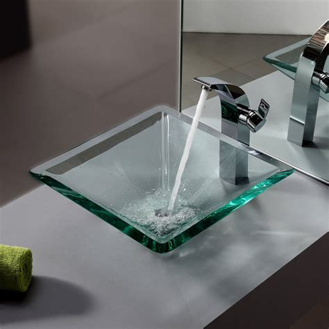 Square Vessel Sinks With Faucets