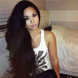 Long Gorgeous Thick Black Hair | Sexy long black hair ...