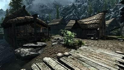 Skyrim Screenshots Landscape Comparison 2k Texture Dlc