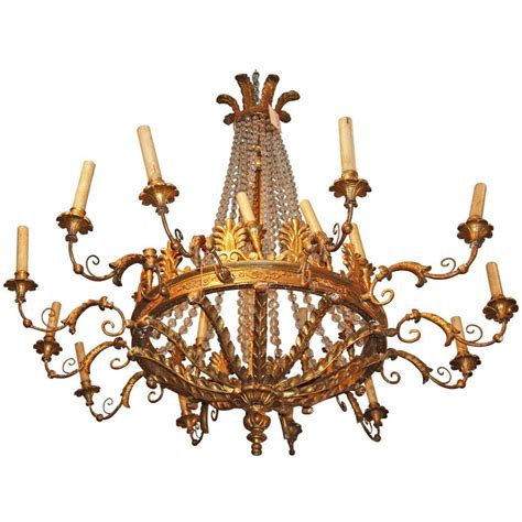 Period Chandeliers by Period Empire Giltwood Chandelier For Sale At 1stdibs
