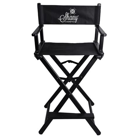 studio director chair makeup artists chair black