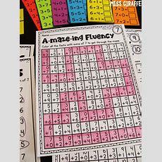 Miss Giraffe's Class Fact Fluency In First Grade