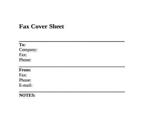 printable fax cover sheet 10 free sles exles