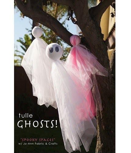 tutorial cute tulle ghosts  halloween sewing