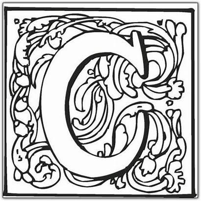 Coloring Pages Fancy Letter Letters Alphabet Block