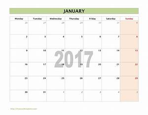 2017 calendar templates for Calendar template 2017 word