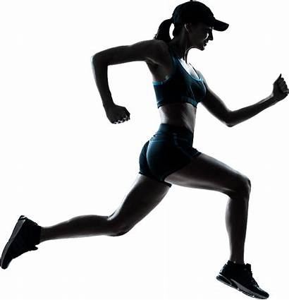 Running Transparent Woman Clipart Background Runner Jogging