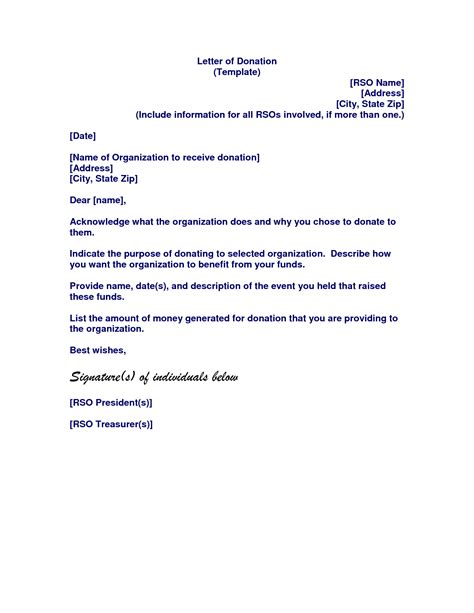 letter  donation template letter chainimage