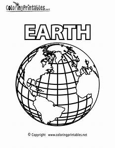 Planet Earth Coloring Page - A Free Science Coloring Printable
