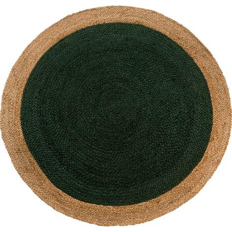 tapis rond vert femandm