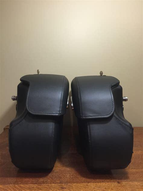 fs hd dyna rigid locking leather saddlebags