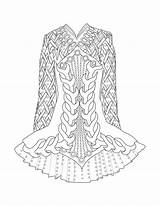 Irish Dance Coloring Pages Dress Drawing Printable Dancing Celtic Tumblr Print Getdrawings Star Dresses Getcolorings Mainstream sketch template