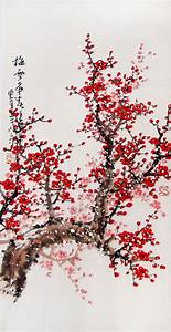 Cherry Blossom painting chinese watercolour painting ...