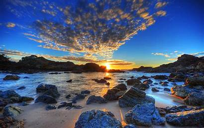 Hdr Sunset Beach Nature Wallpapers Sundown Australia