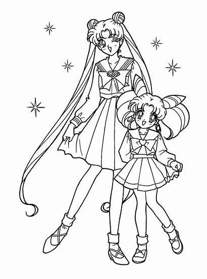 Colorear Moon Dibujos Imprimir Gratis Sailor Sailoor