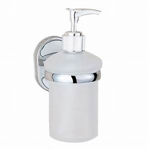 Soap Dispenser Wall Mount Manual Shampoo Lotion Liquid