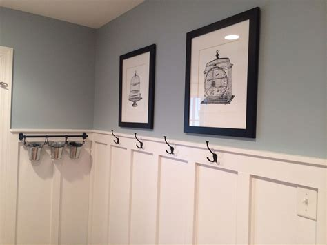 mudroom updated with board and batten wall color valspar