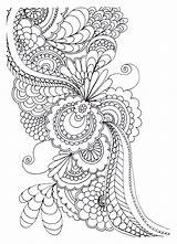 Drawing Stress Zen Print Flowers Anti Coloring Adult Pages sketch template