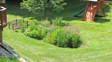 rain garden design construction  ann arbor mi