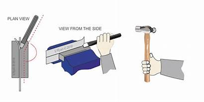 Chisel Flat Cold Hammer Steel Blows Piece