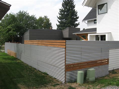 modern fence designs metal good use of inexpensive materials mixed in with traditional wood fencing landscape ideas