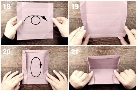 Origami Pencil Box Instructions
