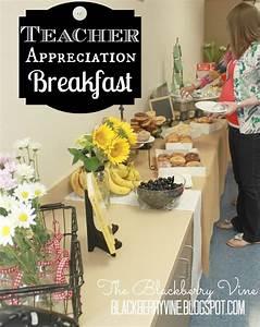 The Blackberry Vine: Teacher Appreciation Week Hospitality ...