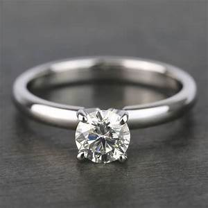 Diamond Chart Round Classic Solitaire Diamond Engagement Ring 0 70 Carat