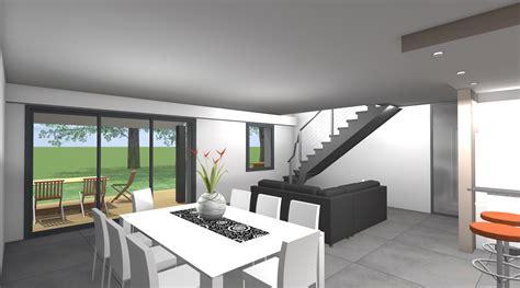 interieur maison moderne architecte projet lf 2 2 vues architecte ma 238 tre d oeuvre rennes 35000