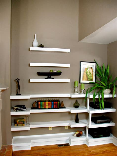 how to decorate a showcase decorating with floating shelves interior design styles and color schemes for home decorating