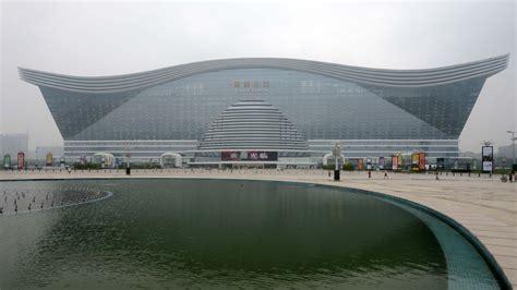 china unveils massive building  fake beach fake sun parallels npr