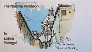 Pen and Wash, Urban Sketch style watercolor demonstration ...