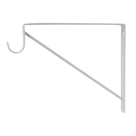 everbilt white heavy duty shelf and rod support 15477