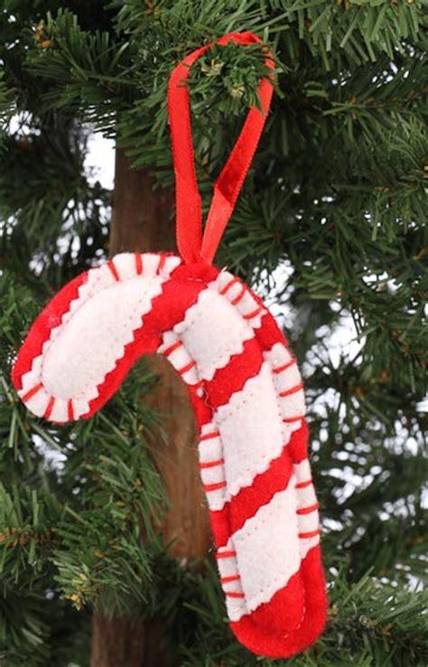 felt candy cane ornament christmas ornaments christmas
