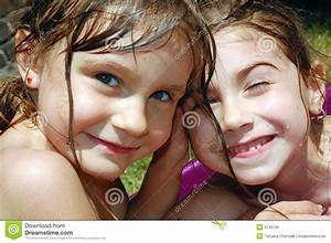Adorable Happy Summer Friends Royalty Free Stock Photo ...