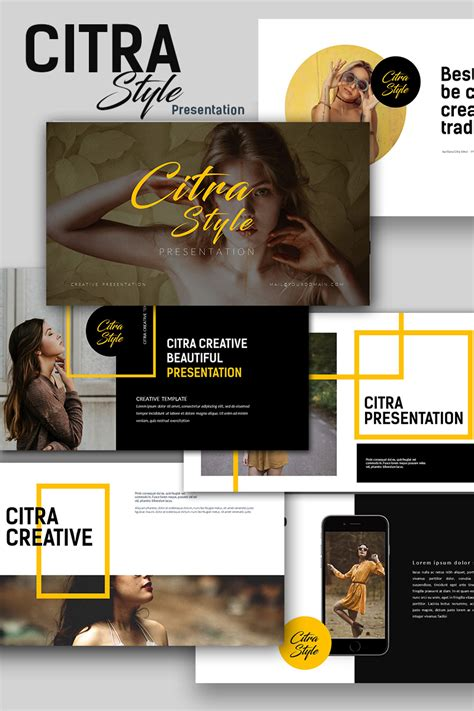 citra style creative keynote template