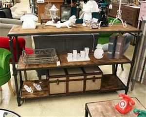 Console Bois Metal Industriel : les meubles neufs vendus ~ Teatrodelosmanantiales.com Idées de Décoration