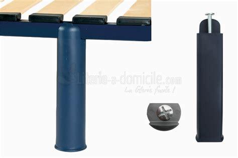 pieds de lit pour cadre metallique a lattes pieds polypro lot de 4 literie 224 domicile