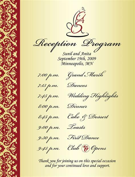 programentertainment wedding reception program sle weddings events puram