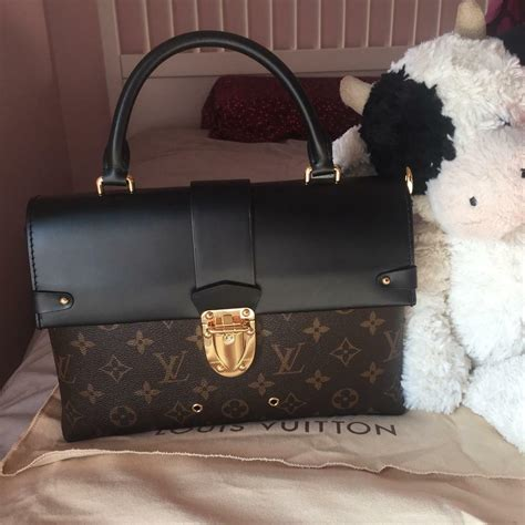 louis vuitton monogram  handle flap bag  caversham