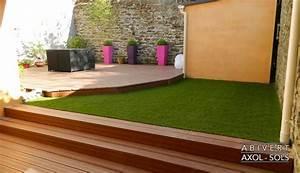 pose de terrasses bois et composite wwwabivert With poser une terrasse en bois sur gazon