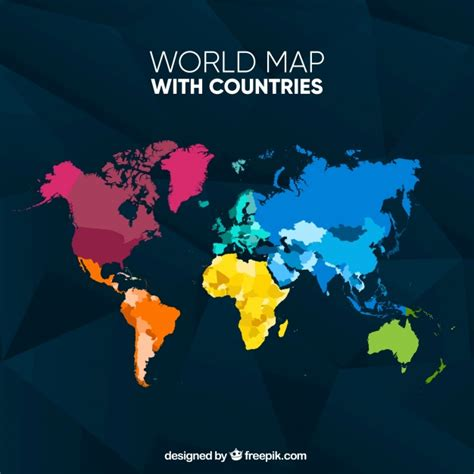 colorful world map colorful world map vector free