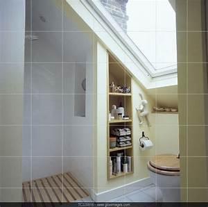Commode Sous Pente : rangement sous pente cot de la douche et wc sous le ~ Edinachiropracticcenter.com Idées de Décoration