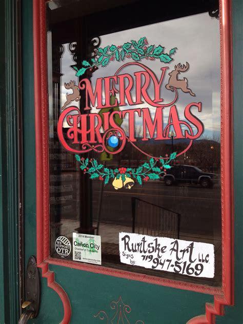 merry christmas window splash runtske art runtske art