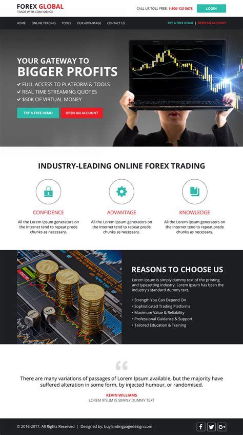 responsive forex trading website design template